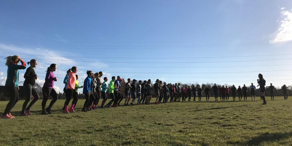 Halva gruppen(!) kör löpskolning.