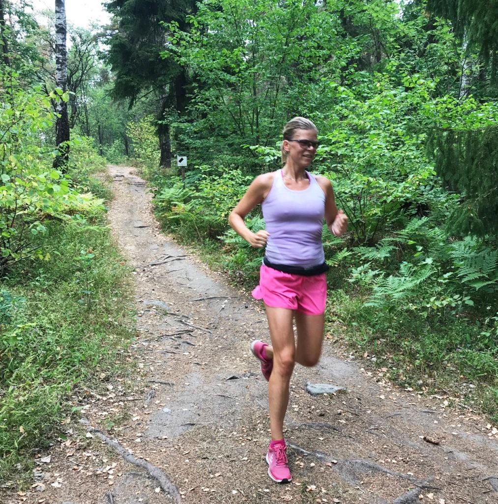 Veckans långpass i Ursvik. Det blev 16 km tillsammans med maken. Jag kände mig stark och snabb!
