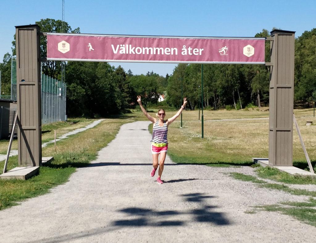 I mål efter 15 km på Ursvik Extreme - jag kommer gärna tillbaka!