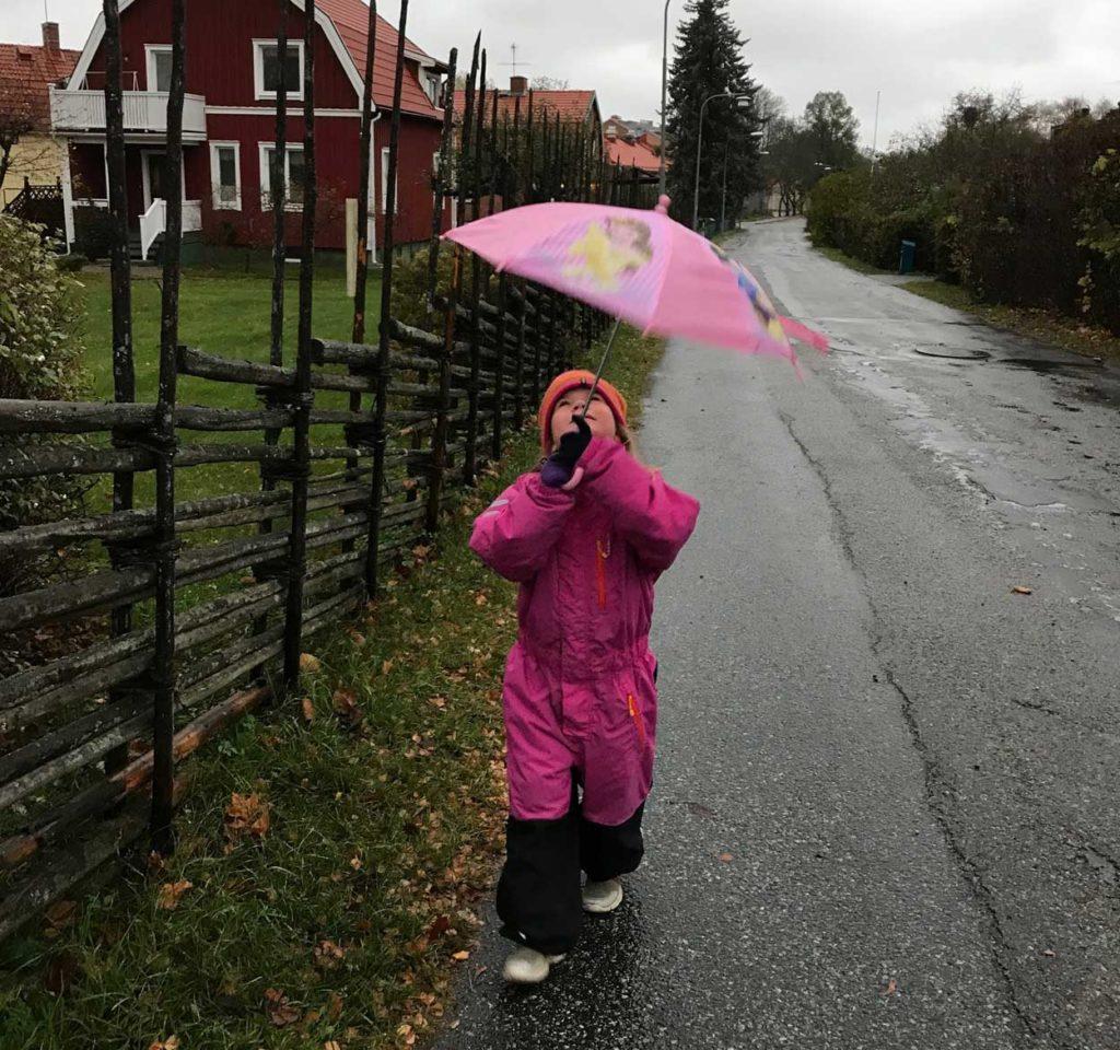 Vardagsmotion: promenera till förskolan.