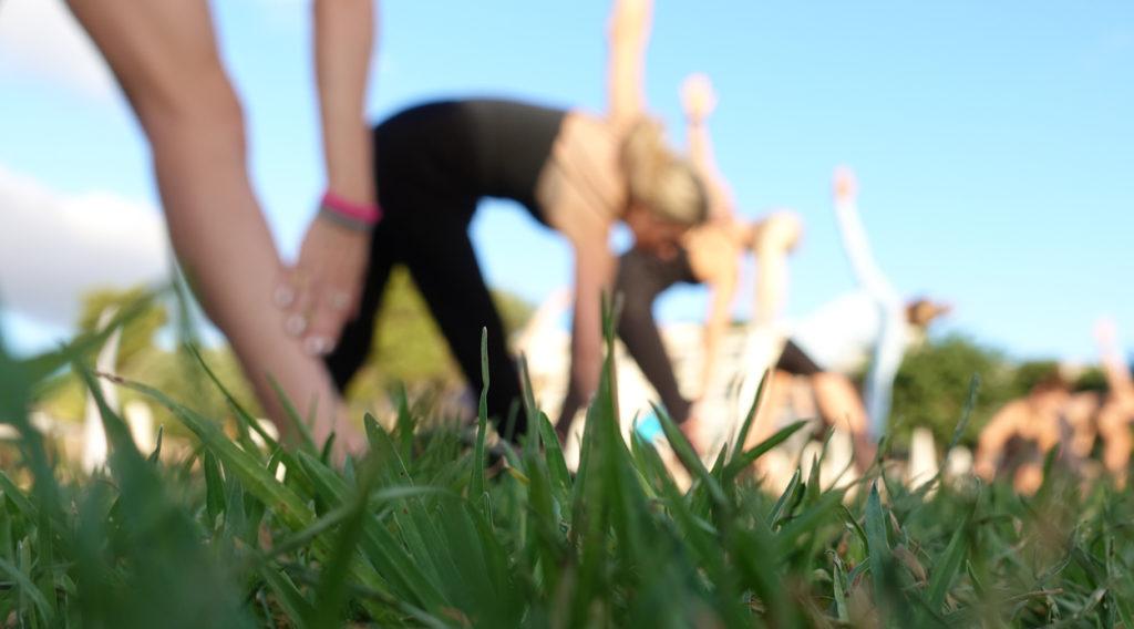 Yoga i morgondaggen.